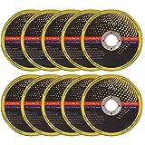 """Discos de corte de metal Gobesty, 10 piezas Discos de corte de acero inoxidable ultrafinos Cuchillas de corte para metal, tubos de acero inoxidable, metales no ferrosos (4.5"""" * 0.04"""" * 0.86"""" )"""