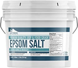 Epsom Salt (1 Gallon (8 lbs.) by Earthborn Elements, Resealable Bucket, Magnesium Sulfate Soaking Solution, All-Natural, Highest Quality & Purity, USP Grade
