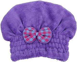 Shower Cap, Dry Hair Cap, Strong Absorbent Shower Cap, Quick-Drying Towel, Baotou, Long Hair Cute Hair Towel, Female Hair Artifact, (Color : B1)