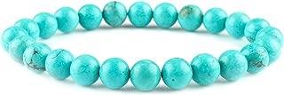 Pulsera elástica de cuentas de magnesita verde Joya natural unisex Dainty Jewelry