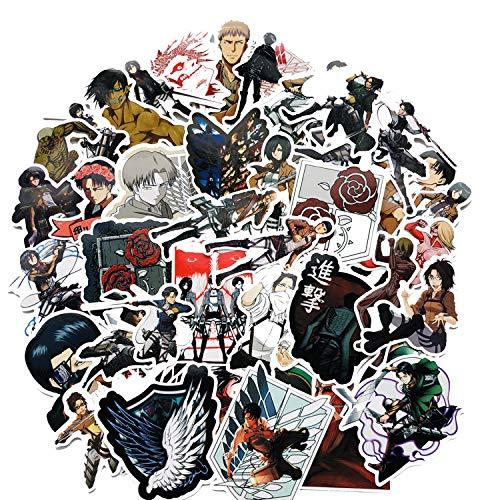 Anime Domain Attack on Titan Vinyl Aufkleber, 42 Stück