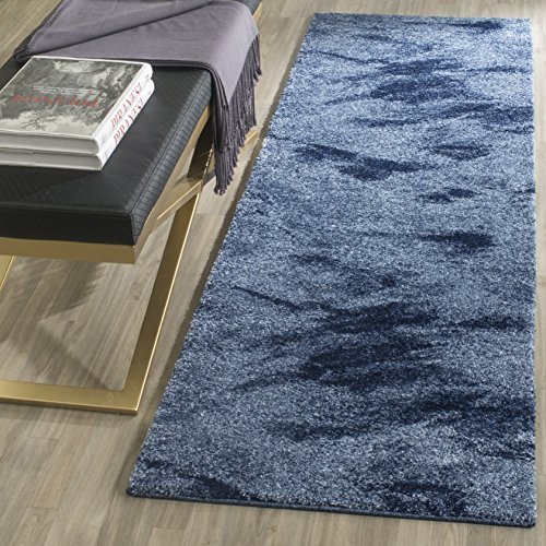 "Safavieh Retro Collection RET2693-6065 Modern Abstract Light Blue and Blue Area Rug (2'6"" x 4')"