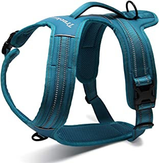 TRUE LOVE Reflective Dog Harness Handle Soft Padded No-Pull Pet Vest, Durable Oxford Outer Layer Large Breeds Truelove TLH5551