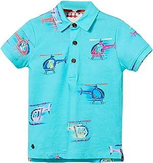 فساتين Ainuno للفتيات (1-7 سنوات)، 100% قطن أولاد بنات قمصان صيفية ملابس