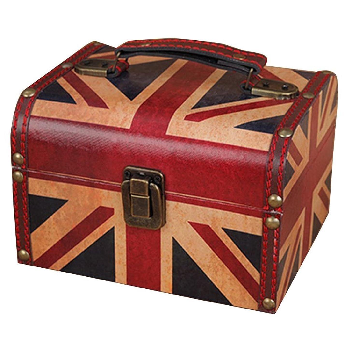 前述の適度に説教するUmora メイクボックス 収納 アンチーク コスメボックス 化粧品 小物 おもちゃ 雑貨 (ユニオンジャック)