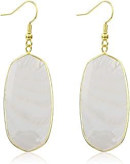 Stone Crystal Dangle Drop Earrings Teardrop/Oval Stylish Jewelry for Women Ladies Girls