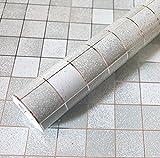 Bluelover Sfondo Grigio Anti Mosaico Impermeabile Wall Sticker Autoadesivo Di Alluminio Ol...