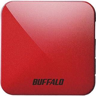 BUFFALO 無線LAN親機 11ac/n/a/g/b 433/150Mbps トラベルルーター パッションレッド WMR-433W2-PR