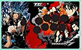 Tekken 7 authorized special red faceplate Fight Stick Art for Mad Catz TE2 and TE2+ (VEWLIX layout)