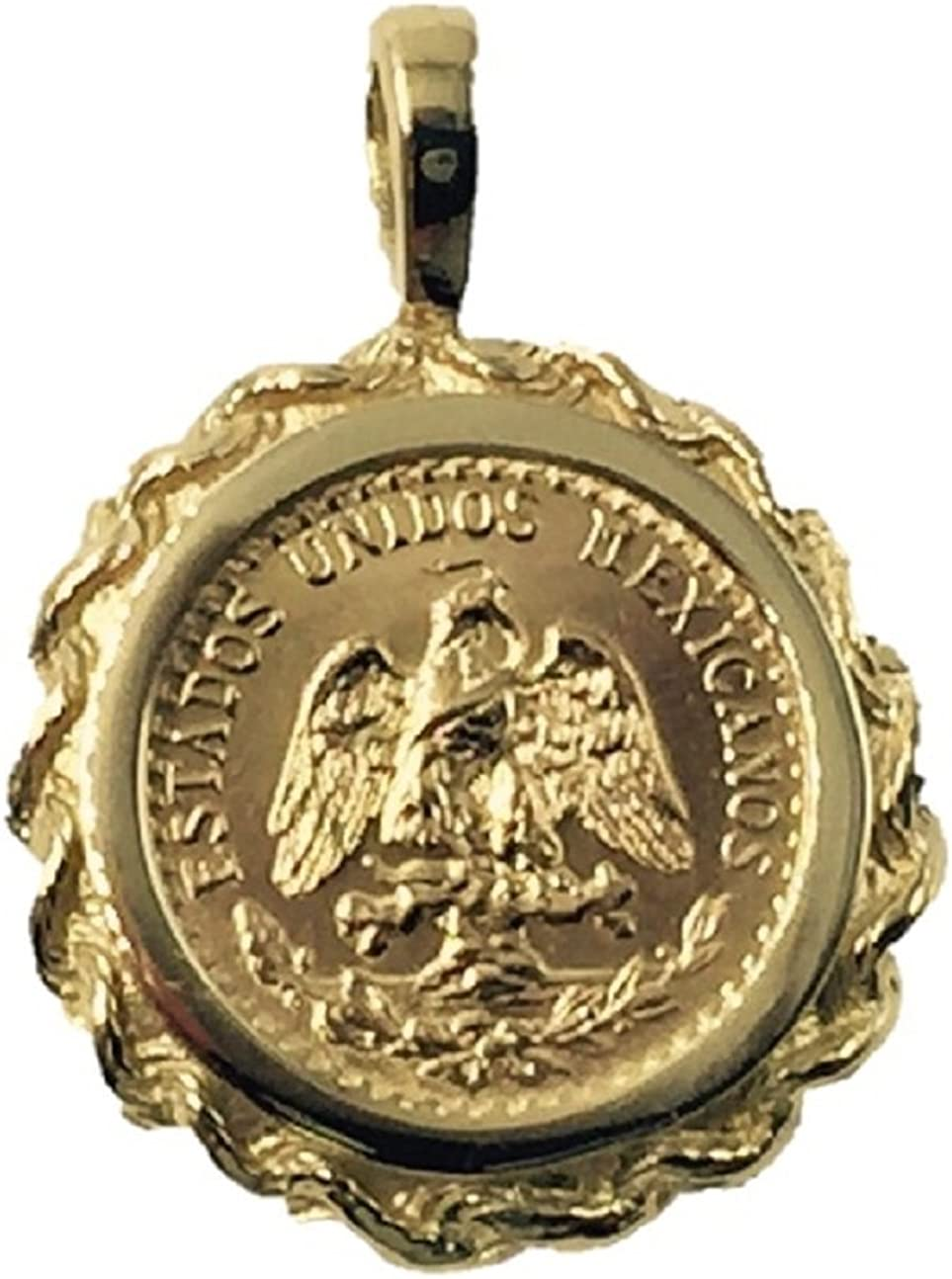 14K Gold 17Mm Coin Pendant New York Mall With Bargain sale Dos Pesos 574 Mexican 22K A