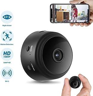 GXSLKWL Hidden Camera, Home Security Camera WiFi Super Night Vision 1080P Wireless Surveillance Camera, 150° Wide-Angle Le...