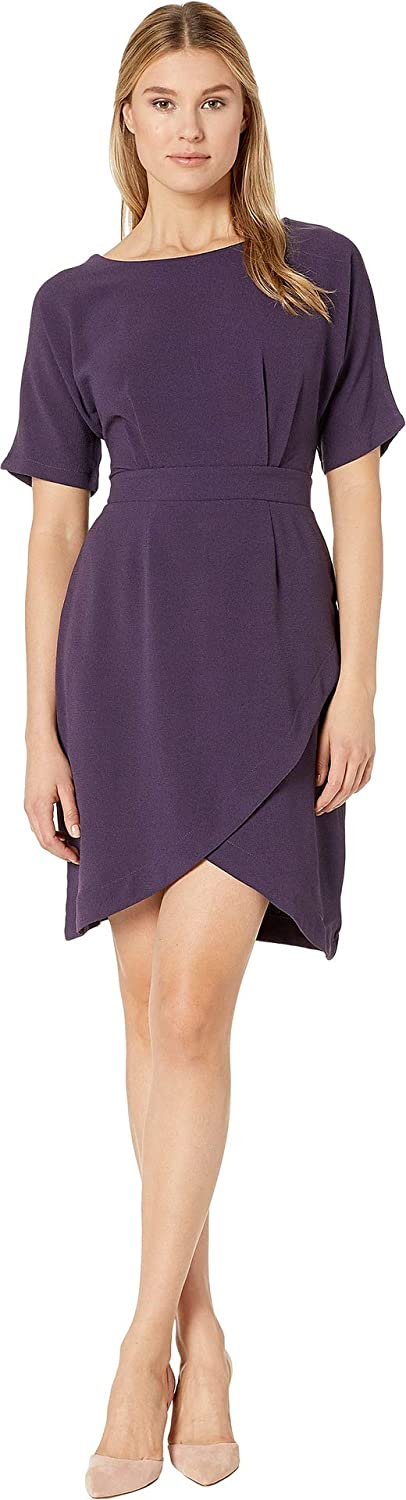 Bobeau Women's Dolman Sleeve Wrap Dress