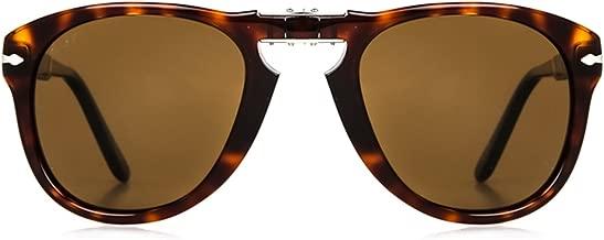 Persol PO714SM Limited Edition Steve McQueen sunglasses. Size 54. Color Brown (24/S3), Blue lenses.