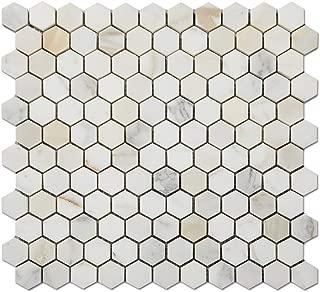 calacatta gold hexagon tile 3