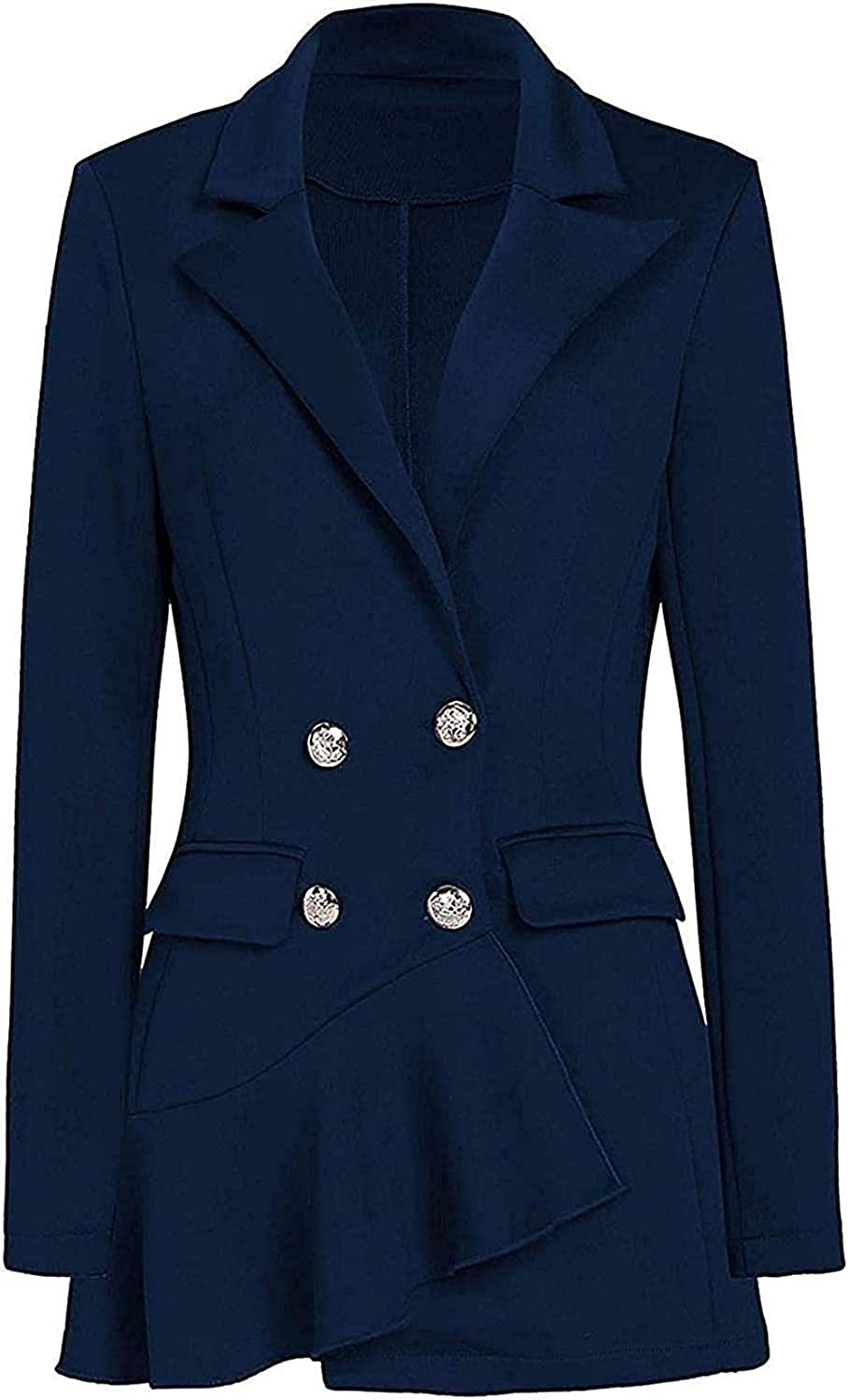 Women's Fashion Double-Breasted Slim latest Fit Business Suit Ja Blazer At the price