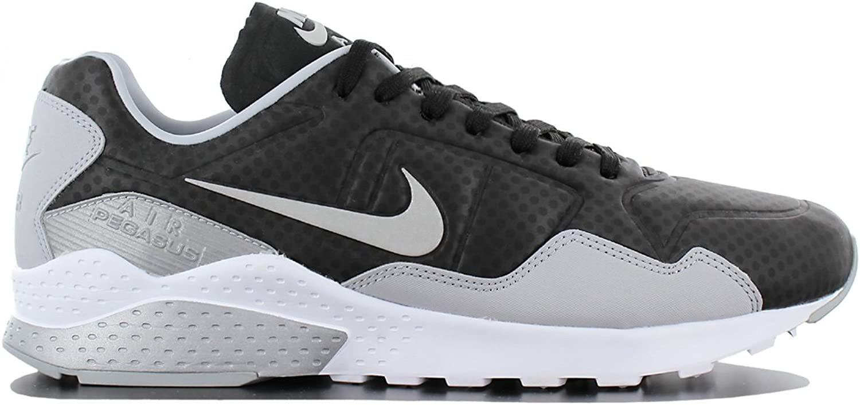 Nike Men's Air Zoom Pegasus 92 PRM, Black   Metallic Silver - Wolf - Grey