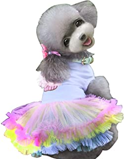 Dog Dress,Pet Dog Tutu Skirt Clothes Puppy Doggie Cat Cute Princess Skirt Lace Cake Camisole Tutu Dress for Small Dogs Cats for Summer