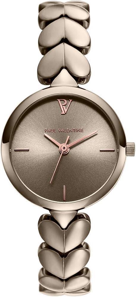 paul valentine® lovella orologio donna con maglie a cuore in acciaio inossidabile pvw1017-0000111
