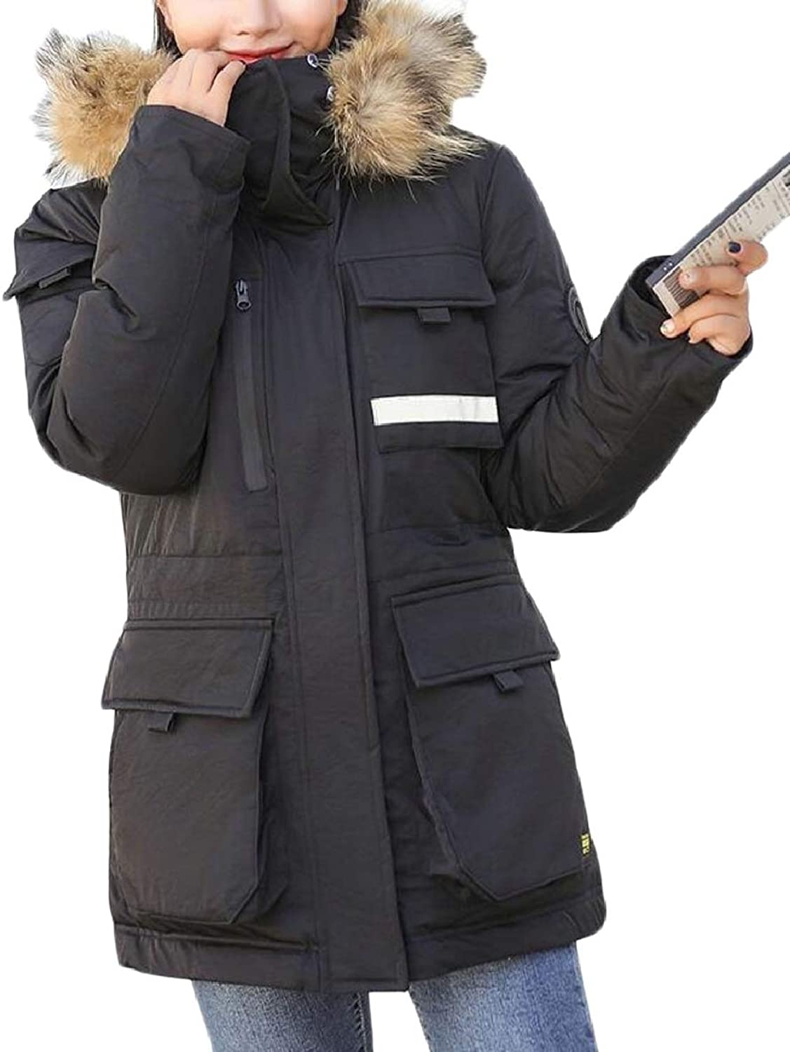 Womens Winter Thick Warm Outdoors Hooded Coat Jacket Outwear