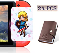 boshile [Newest Standard Version] 24 Pcs with Zelda Link's Awakening Botw NFC Cards for The Legend of Zelda Breath of The Wild Switch/Wii U- 24 Pcs (Not Official Amiibo) with Card Holder