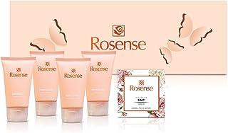 Rosense Spa 礼品套装带天然土耳其玫瑰花 - 沐浴和身体礼品盒