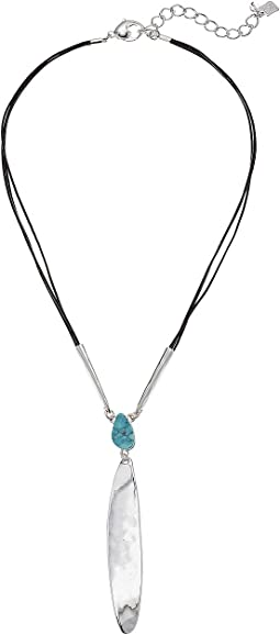 Robert Lee Morris Turquoise and Silver Y-Necklace