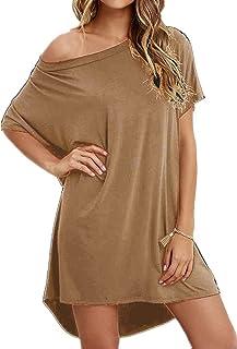 d8dc7d7b19e Haola Women Loose T Shirts Home Short Shirt Mini Dresses Tops