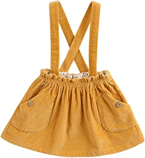 Little Girls' Fashion Suspender Skirt Baby Girls Jumpsuit Strap Overall Dress