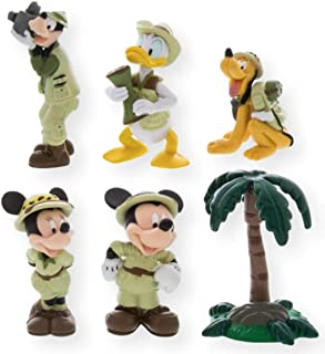 Disney Parks Exclusive Mickey and Friends On Safari Collectible Figures Playset