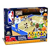 Basic Fun KNEX NBA - Gameday Full Court Set - Hardwood Classics Edition Building Set-Lakers-Great Gift for Boys & Dad-Featuring Shaquille O'Neal-12.5' x 33' x 6'–Build and Play All Day!