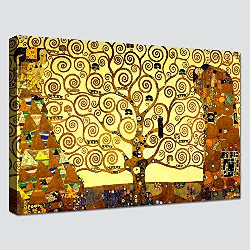 Quadro L'Albero della Vita GUSTAV KLIMT - RIPRODUZIONE STAMPA SU TELA XXL Quadri Moderno Moderni Arte Astratto Cucina Soggiorno Camera da letto printerland.it (70x100 cm)