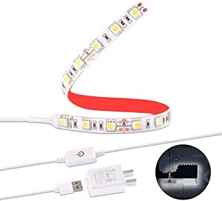 Arioj Sewing Machine LED Light.light strip kit for sewing machine,6.6ft Cord with Touch Dimmer and USB Power,6000K Colds White with 3 M Adhesive Tape Black Fits All Sewing Machines