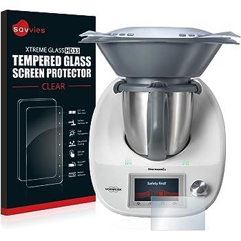 savvies Cristal Templado Compatible con Vorwerk Thermomix TM5 ...