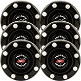 6 Pack of IDS Roller Hockey Puck Pro Shot (Black)