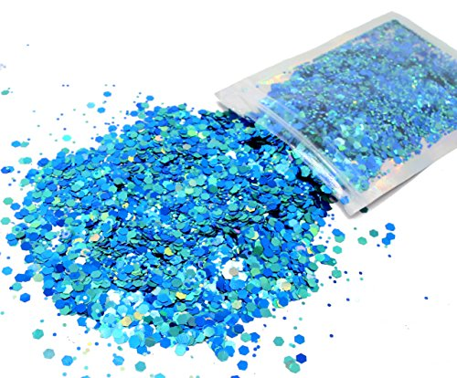 10 Grams - Aqua Blue Cosmetic Glitter - Festival Rave Beauty Makeup Face Body Nail