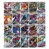 BSTCAR 60 tarjetas de anime de la versión española compatibles para tarjetas Pokemon Vmax, juego de anime tarjetas de juego de mesa, colección de cartas de colecciones, juguetes de batalla