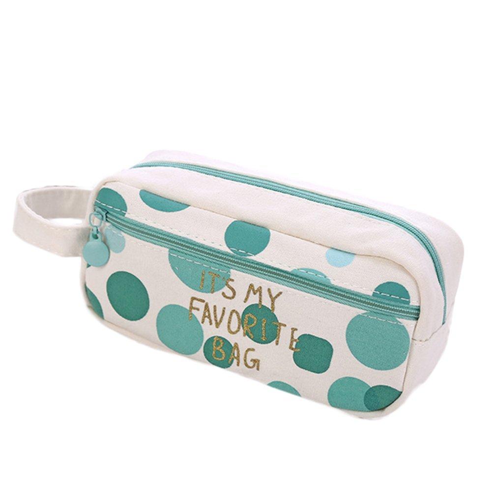 fablcrew Pencil Case Bolsa de grande capacidad, juego de bolsos para maquillaje cosmetico, estuches para lápices 18 × 8.5 × 7 CM, estuche de tela: Amazon.es: Oficina y papelería