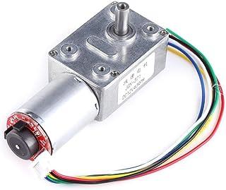 Motor adaptado de tornillo sinfín de alto par DC 12V Motor adaptado de tornillo sinfín de alto par turbo con codificador y cable(# 4)