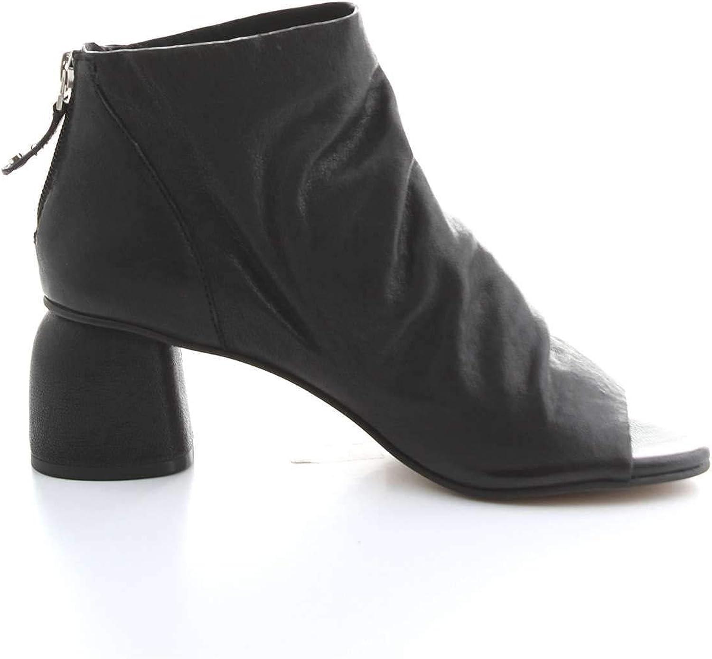 ELVIO ZANON Women's EJ5806XBLACK Black Leather Ankle Boots