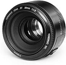 Yongnuo Yn Objetivo con Autoenfoque y Bayoneta Canon Ef, 50 Mm, F1.8, Compatible con Canon 350D/450D/500D/600D/650D/700D/60D/5D Mark II/5D Mark IIi