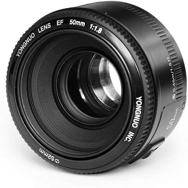 YONGNUO YN EF 50mm f/1.8 AF Lentes 1:1.8 Lente Primer de estandar automatico enfoque de apertura para Canon EOS Camaras DSLR