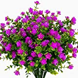 Boic 10 pcs Plantas Verdes Artificial Hojas Arbusto para Ext
