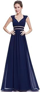 5f84ad5eb65 Ever-Pretty Women s Elegant V-Neck Sleeveless Formal Long Evening Dress  08697
