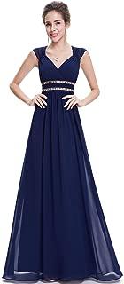 Ever-Pretty Women's Sleeveless V Neck Empire Waist A Line Chiffon Evening Party Prom Dresses 08697