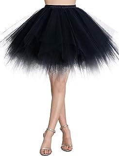 WedTrend Damen Petticoat Tutu Tüllrock 50er Kurz Ballet Tanzkleid Unterrock Cosplay Crinoline Rockabilly für Karneval Partykleid
