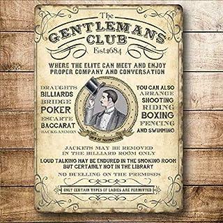 Tamengi Gentleman's Club Poker Billiards Boxing Steel Metal Sign Plaque Poster 8