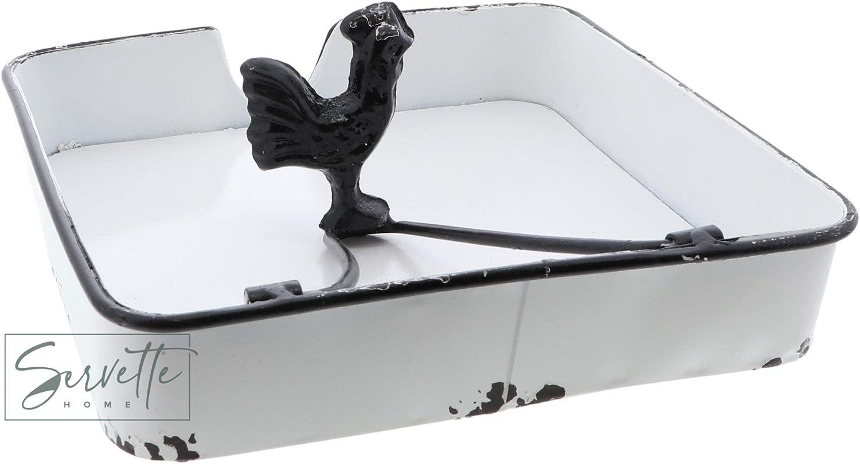 Rustic Metal Shabby Chic Flat Napkin Holder Bird Weight Tabletop ...
