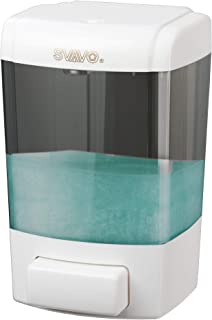 SVAVO Soap Dispenser Wall Mount 23.7oz / 700ml, Refillable Commercial Soap Dispenser, Wall Mounted Liquid Soap Dispensers for Bathroom, Kitchen, Restaurant, Hand Sanitizer, Body Wash, ABS Plastic