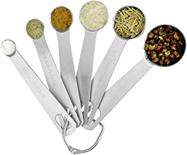 Baking tools stainless steel measuring spoon 6-piece set seasoning measuring spoon with scale, spoon and teaspoon, used fo...