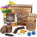 Edible Flowers Indoor Garden Seed Starter Kit...